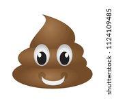 happy poop emoji | Shutterstock .eps vector #1124109485