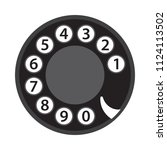 rotary phone dial  old... | Shutterstock .eps vector #1124113502