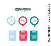 circle infographic template.... | Shutterstock .eps vector #1124116178