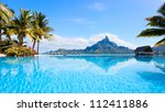 beautiful view of otemanu... | Shutterstock . vector #112411886