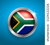 south africa flag vector icon....   Shutterstock .eps vector #1124122226