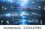 data tunnel journey. loopable...   Shutterstock . vector #1124122982