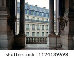 french style architecture... | Shutterstock . vector #1124139698