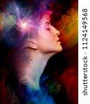 woman's world series. abstract... | Shutterstock . vector #1124149568
