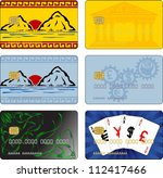 images for bank cards. vector... | Shutterstock .eps vector #112417466