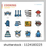 cooking icon set | Shutterstock .eps vector #1124183225