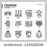 cooking icon set | Shutterstock .eps vector #1124183228