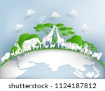 illustration design concept of... | Shutterstock .eps vector #1124187812