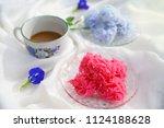 traditional thai dessert ... | Shutterstock . vector #1124188628