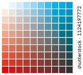 cmyk color chart to use in... | Shutterstock .eps vector #1124197772