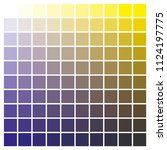 cmyk color chart to use in... | Shutterstock .eps vector #1124197775