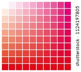 cmyk color chart to use in... | Shutterstock .eps vector #1124197805