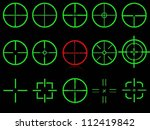 set of fifteen vector cross... | Shutterstock .eps vector #112419842