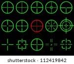 set of fifteen vector cross... | Shutterstock .eps vector #112419842
