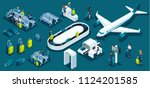 isometric large set with... | Shutterstock .eps vector #1124201585