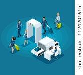 isometric infographic concept... | Shutterstock .eps vector #1124201615