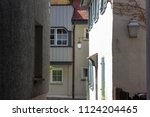 alley in south germany city... | Shutterstock . vector #1124204465