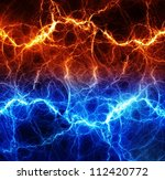 Fire And Ice Abstract Fractal...