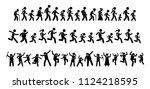 many people walking  running ...   Shutterstock . vector #1124218595