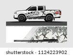 truck wrap design vector.... | Shutterstock .eps vector #1124223902