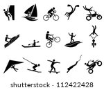 extreme sports icon set | Shutterstock .eps vector #112422428