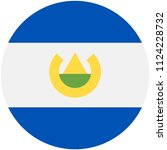 circular flag of salvador | Shutterstock .eps vector #1124228732