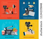 movie making and premiere...   Shutterstock . vector #1124235848