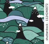 landscape  seamless pattern...   Shutterstock .eps vector #1124240072