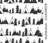 landscape  seamless pattern... | Shutterstock .eps vector #1124240078