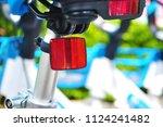 close up of shared bike's... | Shutterstock . vector #1124241482