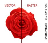 example of vector and raster... | Shutterstock .eps vector #1124241728