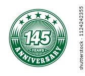 145 years anniversary.... | Shutterstock .eps vector #1124242355