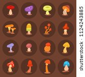 mushrooms fungus agaric... | Shutterstock .eps vector #1124243885