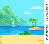 vector illustration tropical... | Shutterstock .eps vector #1124265545