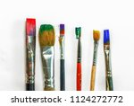 brush art painting on white... | Shutterstock . vector #1124272772