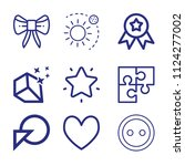 set of 9 shapes outline icons... | Shutterstock .eps vector #1124277002