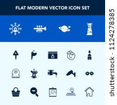 modern  simple vector icon set... | Shutterstock .eps vector #1124278385