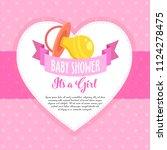 baby shower invite greeting...   Shutterstock .eps vector #1124278475