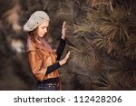 young girl in autumn park | Shutterstock . vector #112428206