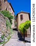the village of peyre ...   Shutterstock . vector #1124283248