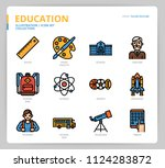 education icon set | Shutterstock .eps vector #1124283872