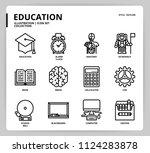 education icon set | Shutterstock .eps vector #1124283878