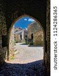 the village of la couvertoirade ...   Shutterstock . vector #1124286365
