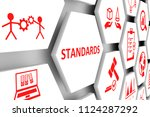 standards concept cell... | Shutterstock . vector #1124287292