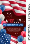 usa independence day... | Shutterstock .eps vector #1124291522