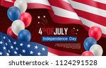 usa independence day banner.... | Shutterstock .eps vector #1124291528