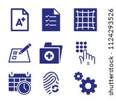 set of 9 interface filled icons ...   Shutterstock .eps vector #1124293526