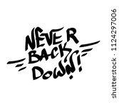 graffiti tag inscription never... | Shutterstock .eps vector #1124297006