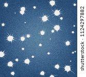 denim background with blot... | Shutterstock .eps vector #1124297882