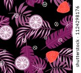 tropical seamless pattern with... | Shutterstock .eps vector #1124298176